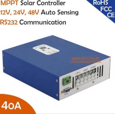 Ecnomical 40A mppt контроллер заряда 12 В/24 В/48 В автоматическое распознавание с RS232 порт связи, Max. PV Входная 100VDC